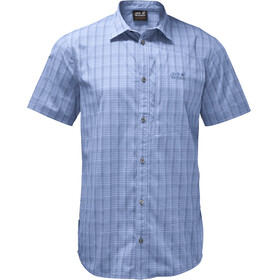 Jack Wolfskin Rays Stretch Vent Shirt Men shirt blue checks
